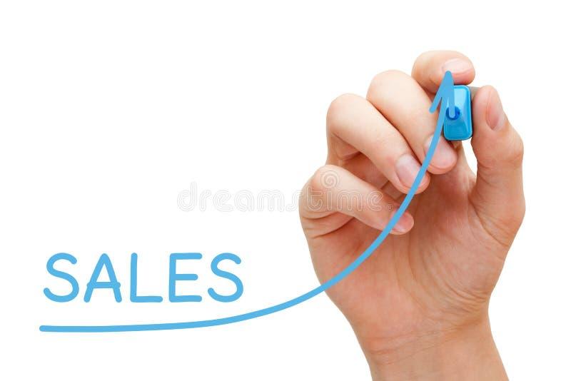 De Grafiek van de bedrijfs verkoopverhoging Concept stock fotografie