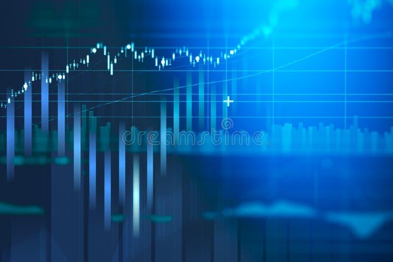 De grafiek van de bedrijfskandelaargrafiek van effectenbeursinvestering handel royalty-vrije stock afbeelding