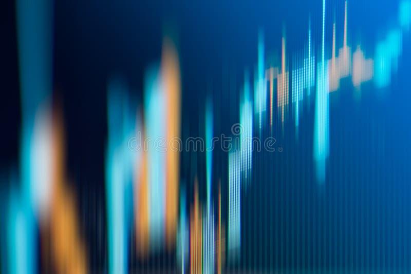 De grafiek van de bedrijfskandelaargrafiek van effectenbeursinvestering handel vector illustratie