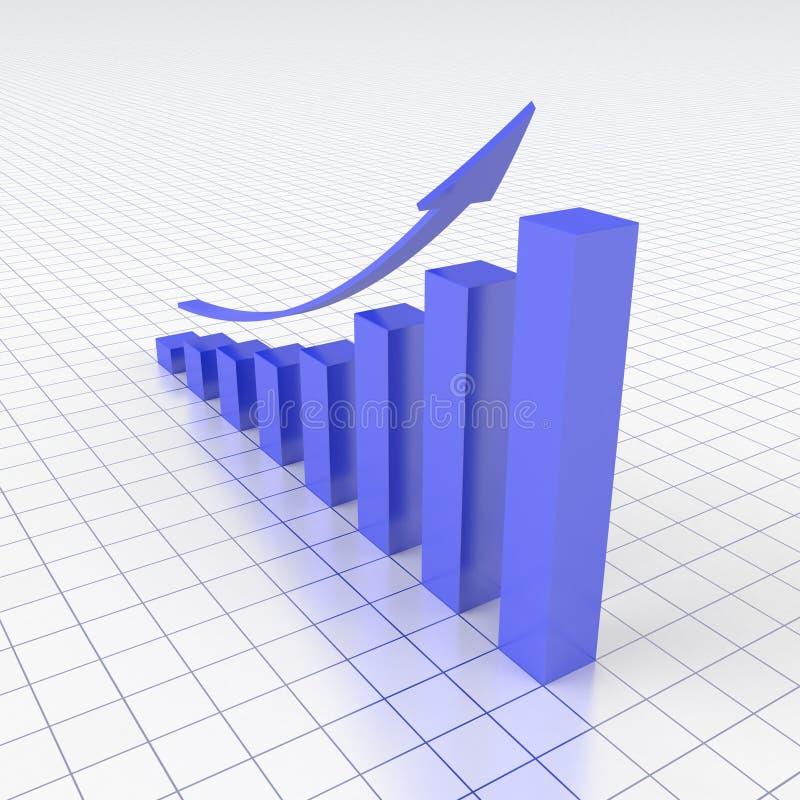 De grafiek van Bussines stock illustratie