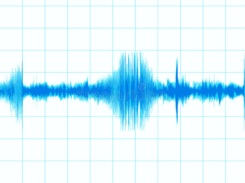 De grafiek van de aardbeving stock illustratie