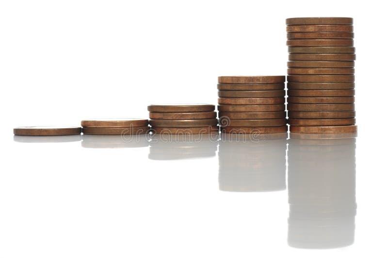 De Grafiek van de cent royalty-vrije stock afbeeldingen