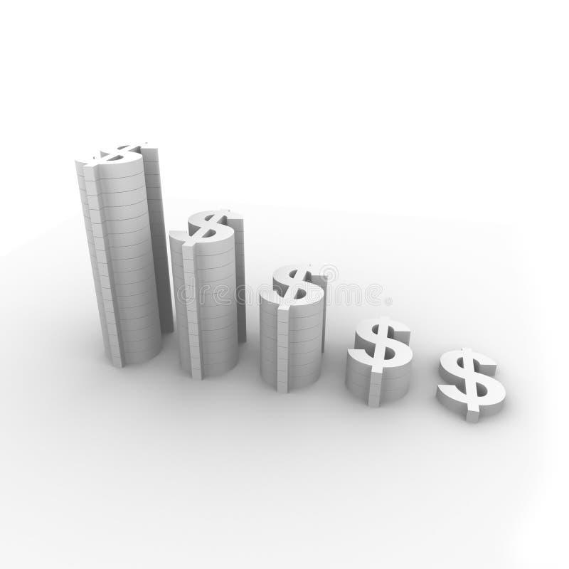 De grafiek van de dollar royalty-vrije illustratie