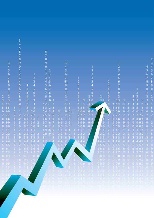 De grafiek van de groei vector illustratie