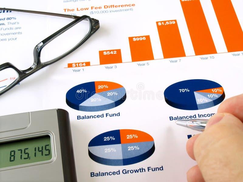 De grafiek van de investering