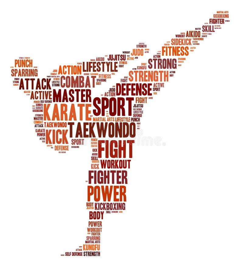 De grafiek van de karate royalty-vrije illustratie