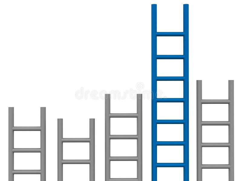 De grafiek van de ladder royalty-vrije illustratie