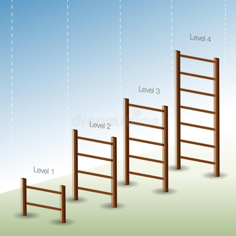 De Grafiek van de Ladder van vier Fase stock illustratie