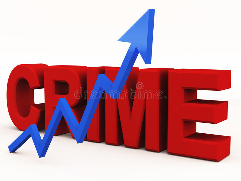 De grafiek van de misdaad het toenemen royalty-vrije illustratie