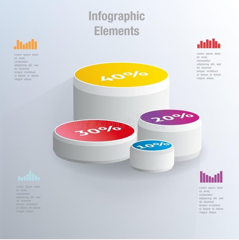 De grafiek van de percentencirkel stock illustratie