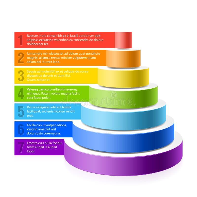 De grafiek van de piramide royalty-vrije illustratie