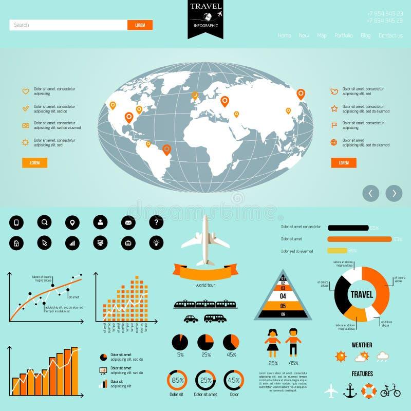 De grafiek van de reisinformatie stock illustratie