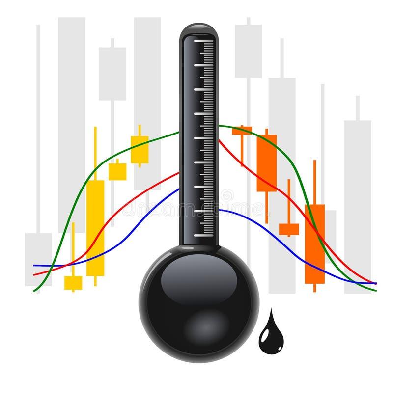De grafiek van de Ruwe olie royalty-vrije illustratie