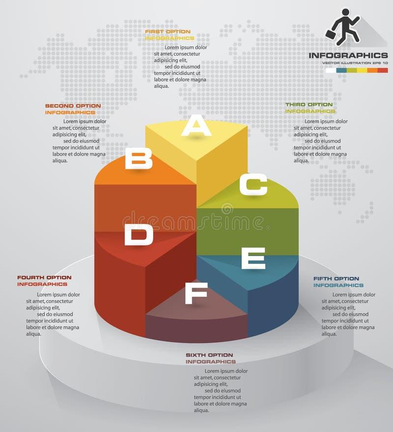 de grafiek van de 6 stappenpresentatie Modern 6 stappenproces Element van het Simple&Editable het abstracte ontwerp royalty-vrije illustratie
