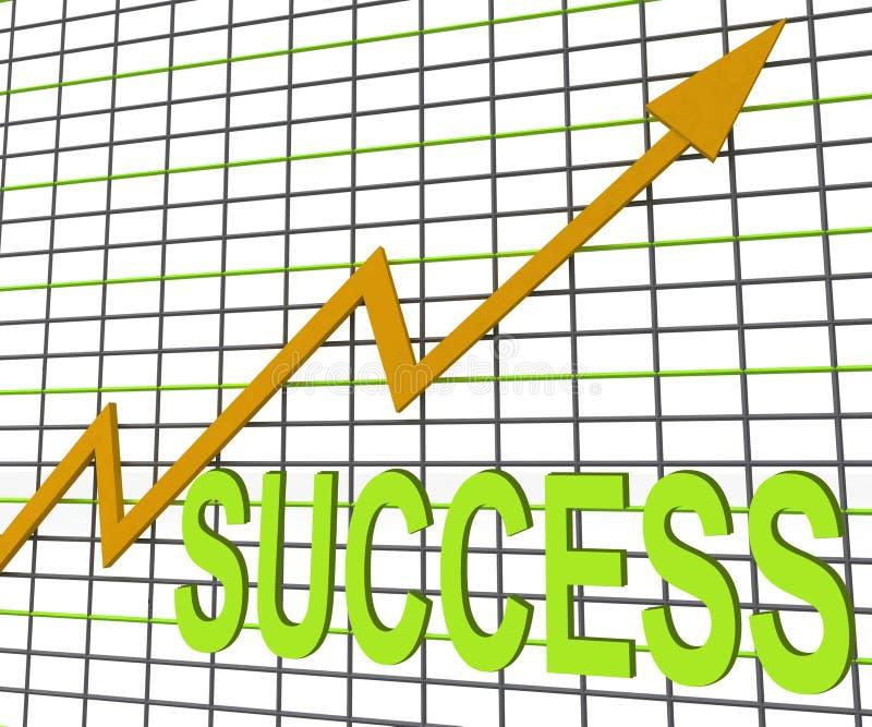 De Grafiek van de succesgrafiek toont het Winnen of Succesvol stock illustratie