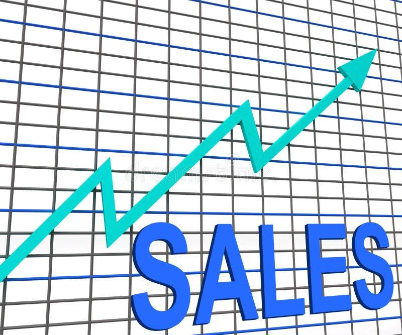 De Grafiek van de verkoopgrafiek toont Stijgende Winstenhandel vector illustratie