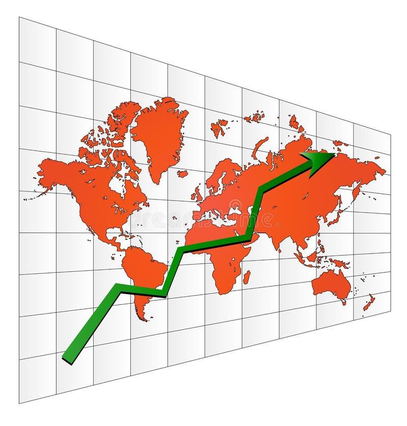 De grafiek van de voorraad vector illustratie