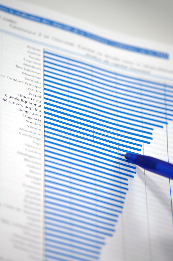 De grafiek van de voorraad stock afbeelding