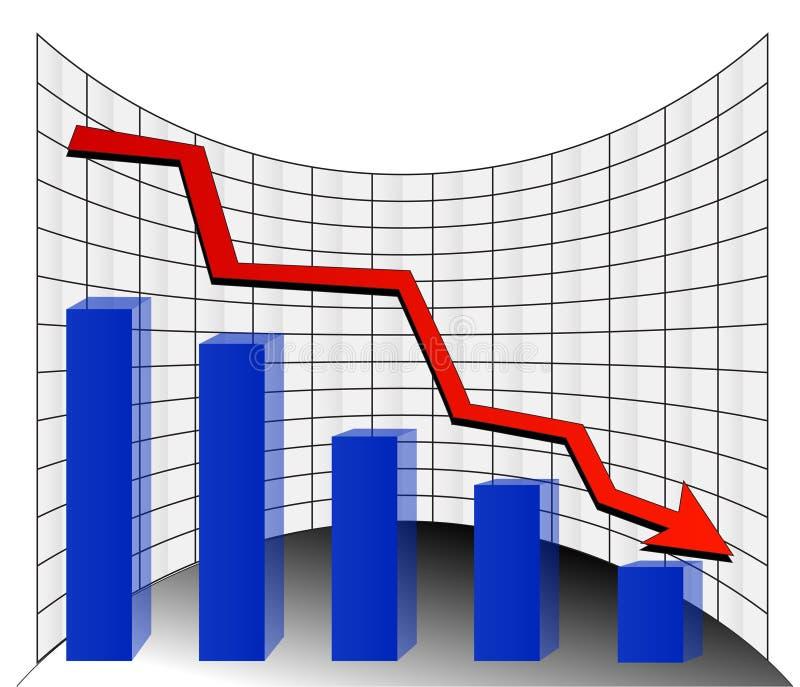 De grafiek van de voorraad royalty-vrije illustratie