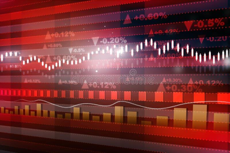 De grafiek van de wereldeconomie vector illustratie