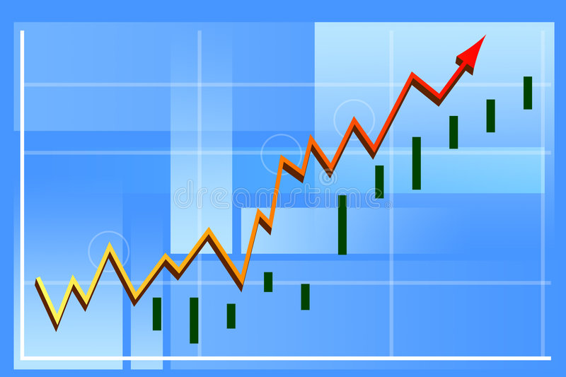 De grafiek van financiën stock illustratie