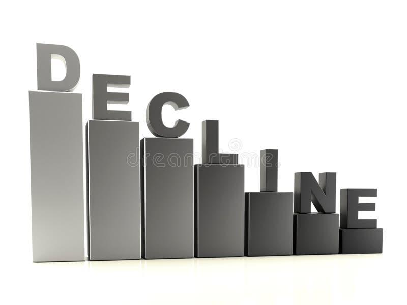 De grafiek van Gray Decline vector illustratie