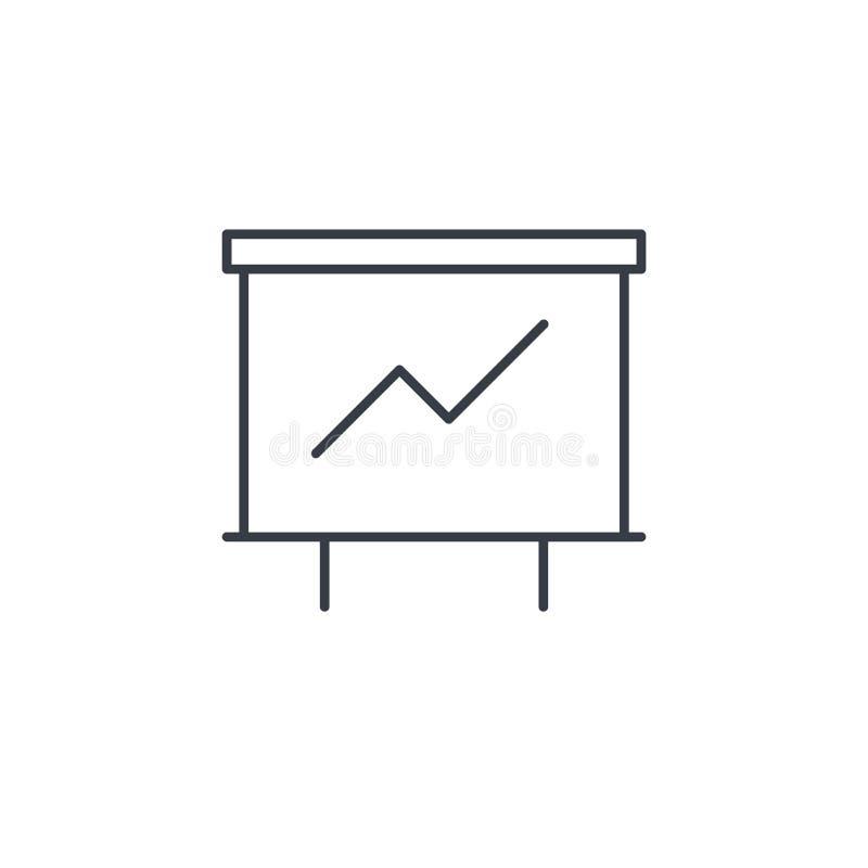 De grafiek van de de groeigrafiek, marktsucces, pictogram van de pijl het omhoog dunne lijn Lineair vectorsymbool vector illustratie