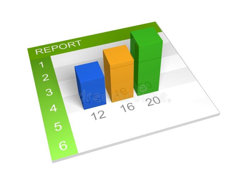 De grafiek van het rapport vector illustratie