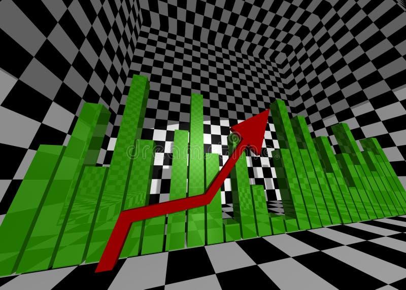 De grafiek van het rapport in de gevormde ruimte vector illustratie