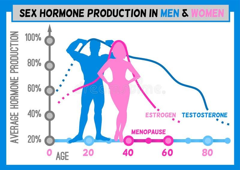 De grafiek van de hormoonproductie stock illustratie