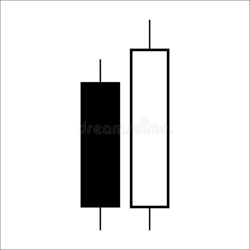 De grafiek van de kaarsstok handelgrafiek om de handel in voor te analyseren vector illustratie