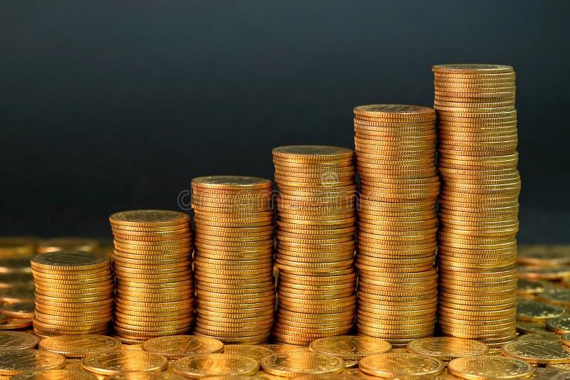 De grafiek van muntstukken stock foto's