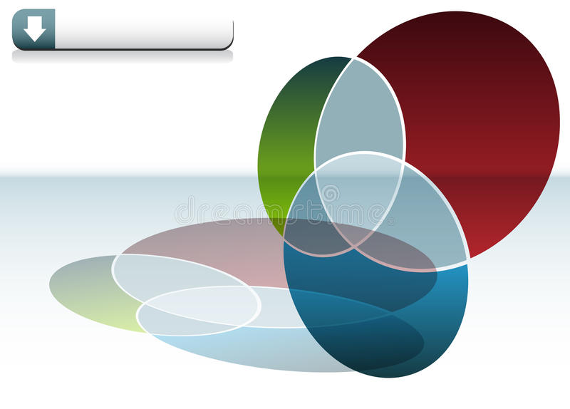 De Grafiek van Venn royalty-vrije illustratie