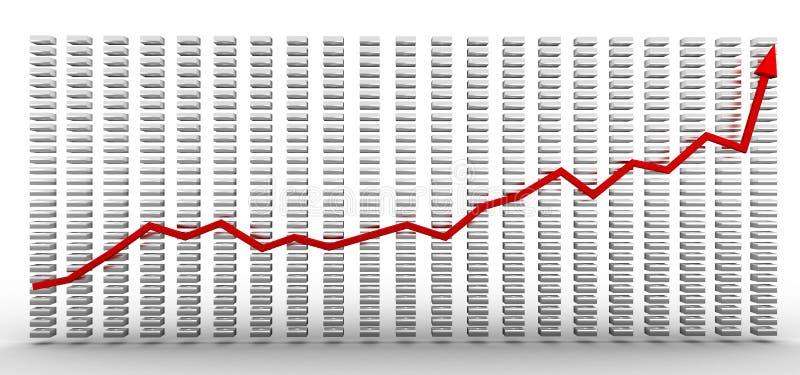 De grafieken van de groei #1 royalty-vrije illustratie