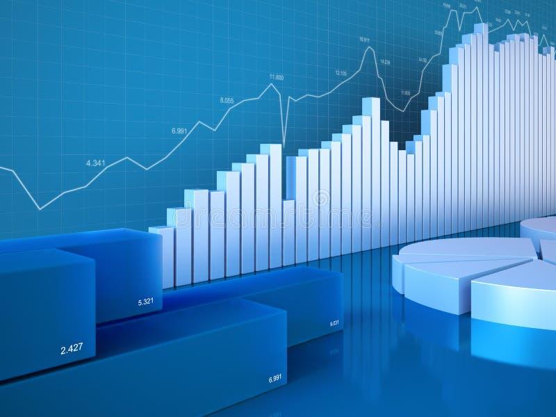 De grafieken van statistieken vector illustratie