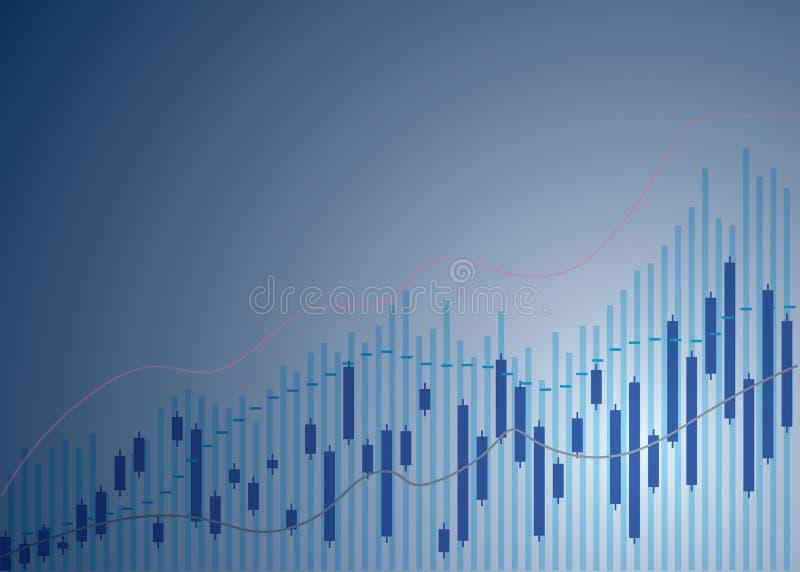 De grafiekgrafiek van de kaarsstok van effectenbeursinvestering die, Stijgend punt, punt ? la baisse handel drijven De grafiekgra vector illustratie