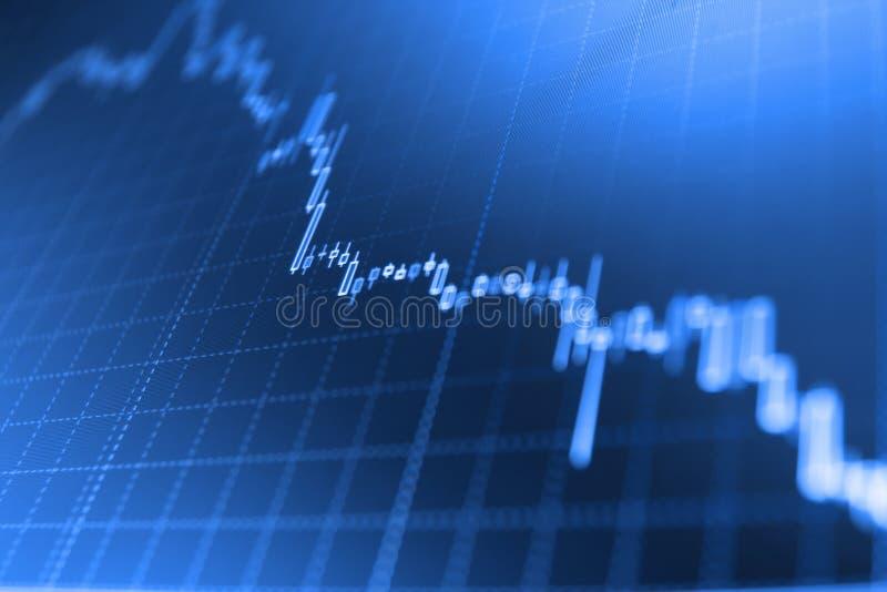 De grafiekgrafiek van de kaarsstok van effectenbeursinvestering handel royalty-vrije stock afbeelding