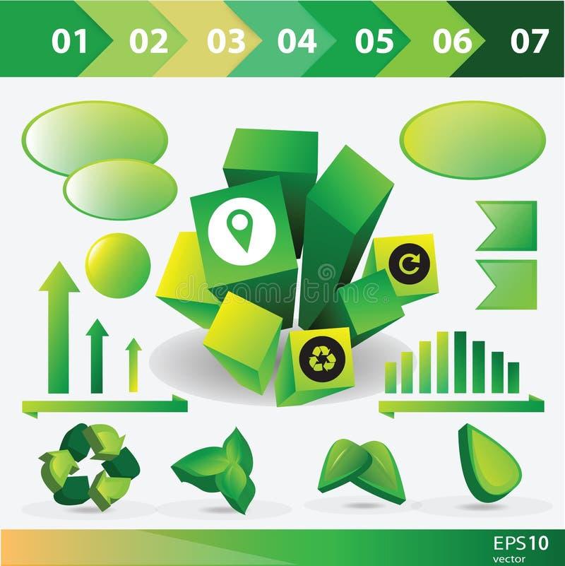 De grafiekinzameling van de ecologieinformatie stock illustratie