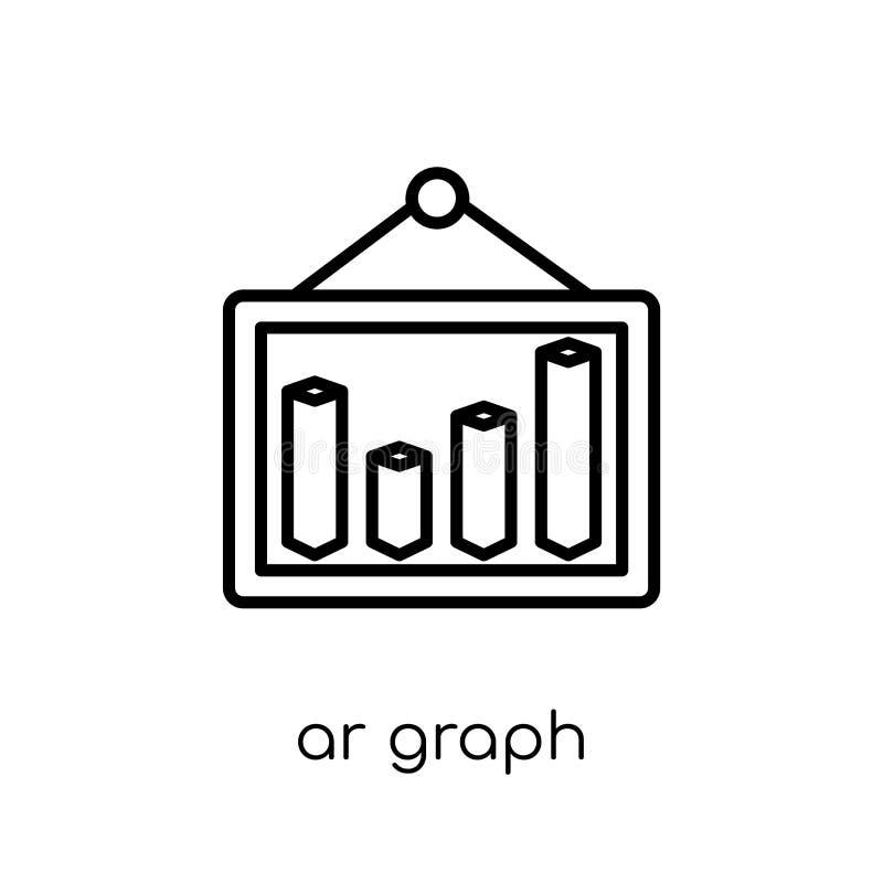 de grafiekpictogram van AR In modern vlak lineair vector de grafiekpictogram van AR  stock illustratie