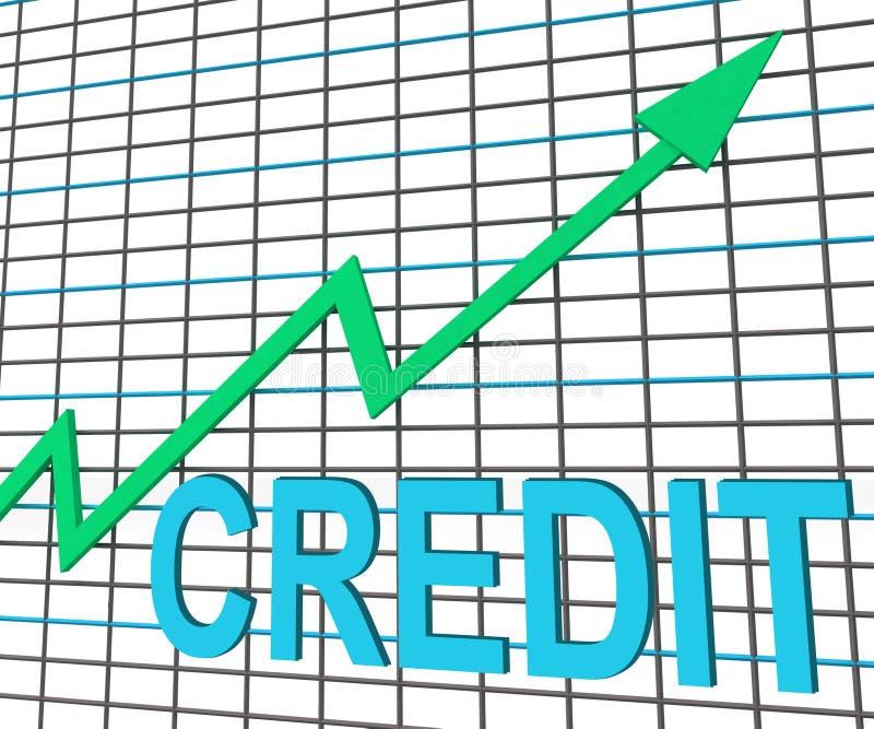 De Grafiekshows van de kredietgrafiek koop Verhoging kweken Schuld vector illustratie