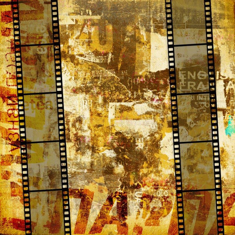 De grafische abstracte achtergrond van Grunge royalty-vrije stock afbeeldingen