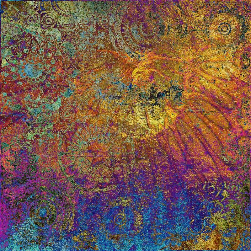 Download De Grafische Achtergrond Van De Kunst Grunge Stock Illustratie - Illustratie bestaande uit leeg, kaart: 10778129