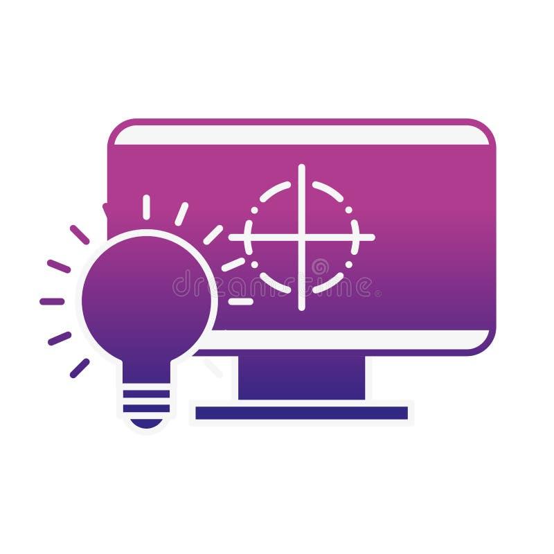 De grafische creativiteit van het de bolidee van de ontwerpcomputer stock illustratie