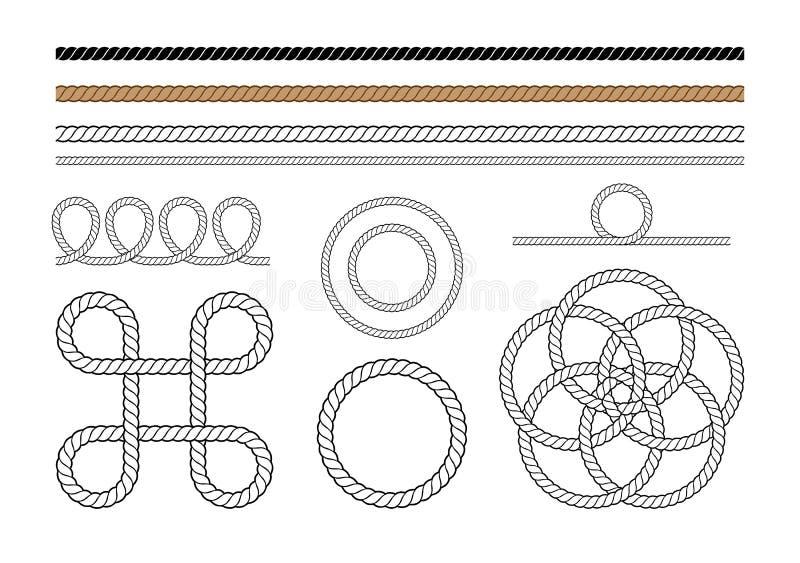 De Grafische Elementen van de kabel royalty-vrije illustratie