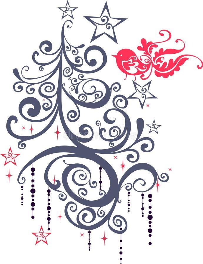 De grafische elementen van Kerstmis vector illustratie