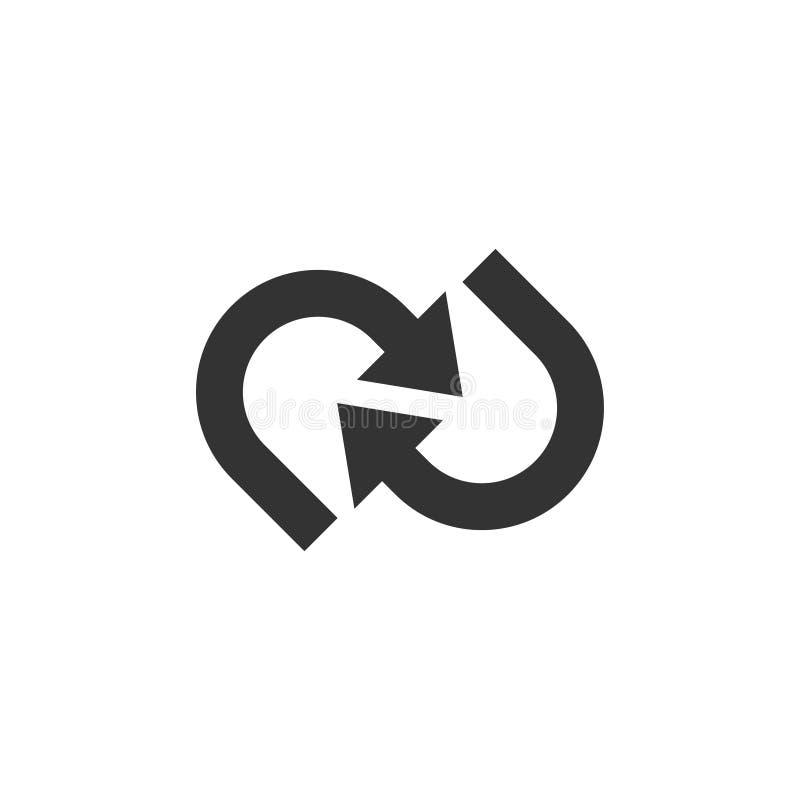De grafische ontwerpsjabloon van de pijlillustratie vector illustratie