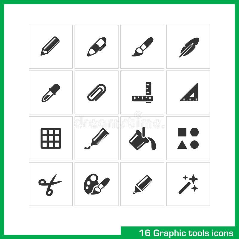 De grafische reeks van het hulpmiddelenpictogram vector illustratie