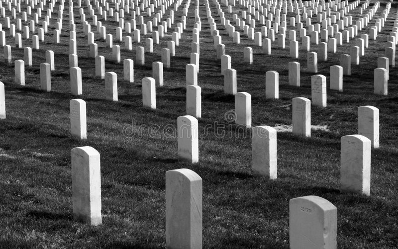 De Grafstenen van Arlington royalty-vrije stock fotografie