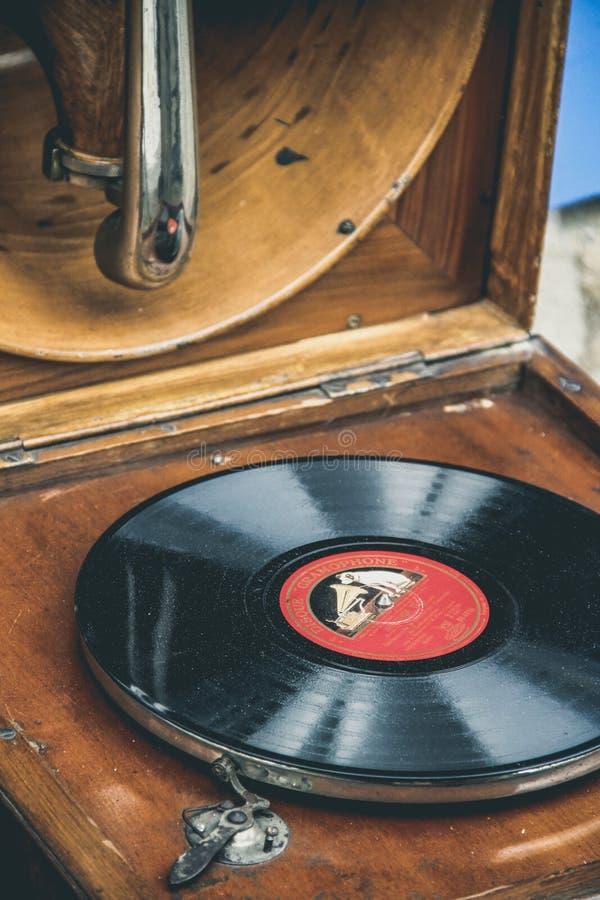 De Grammofoon stock afbeeldingen