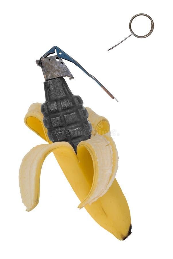 De granaat van de banaan stock afbeelding